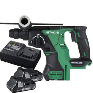 "Hitachi DH18DBLP4 18-Volt Lithium Ion Cordless Brushless SDS Plus 1"" Rotary Hammer is a fantastic cordless hammer drill that can hammer through any tough project"
